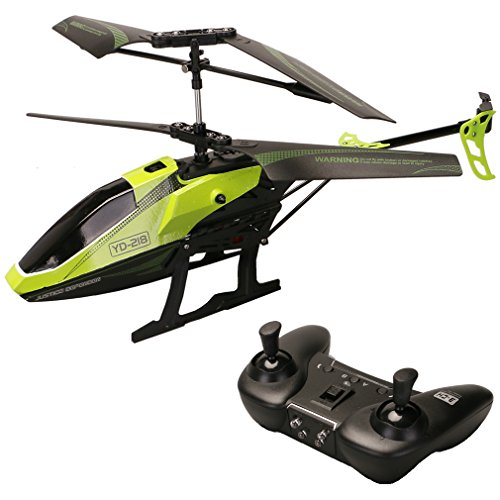 3 Channel Indoor Helicopter (ATTOP YD-218 3 Channel Infrared Remote Control Helicopter with Built-in Gyro Mini RC Heli with Smoothly Hovering Performance (Green))
