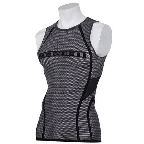 [ゼロフィット] 500メッシュ クルーネック スリーブレス 袖なし アンダーウェア ブラック ZUN12