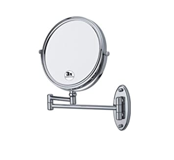 Bathroom Mirror Wall Makeup 360Rotating Double Sided Folding Retractable