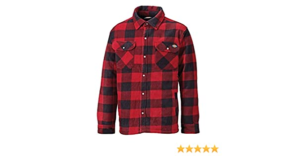 Amazon.com: Dickies Mens Padded Long Sleeve Portland Lumberjack Work Shirt (L) (Red): Clothing