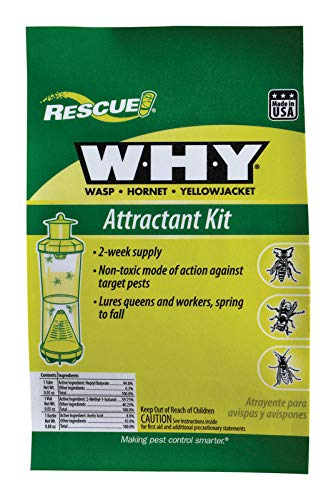 Rescue - WHY Wasp, Hornet, Yellow Jacket Trap Attractant Refills (24 PACKS) (Best European Wasp Bait)