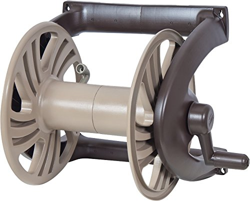 NeverLeak Poly Wall Mount Hose Reel with 225-Foot Hose Capacity - (225 Garden Hose Reel)