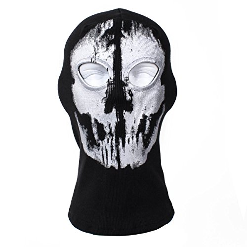 Skull Balaclava Windproof Ski Face Mask Winter Motorcycle Neck Warmer Tactical Balaclava Hood for Women Men Youth Snowboard Cycling Hat Outdoors Helmet Liner Ghost Skull Face Masks with Unique Design -