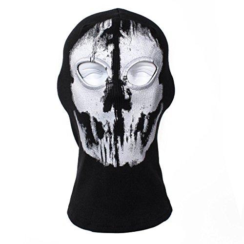 TopAnder Ghost Balaclava Skull Balaclava Mask Ski Mask Face Mask (Ghost Ski Mask)