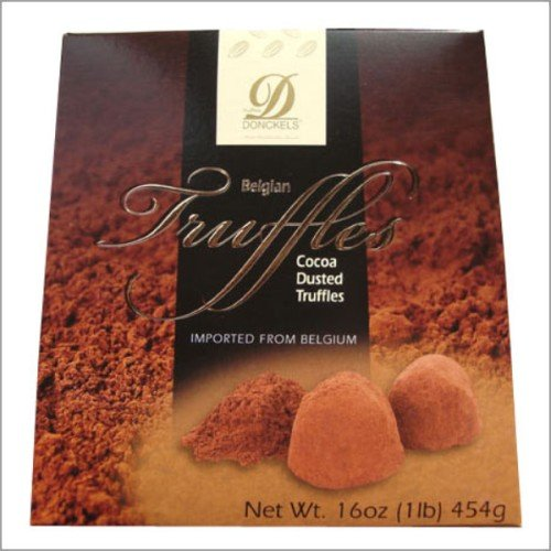 Donckels Belgian Chocolate Truffles Dusted with Premium Cocoa 16 oz (1 lb) 454g - Made in Belgium