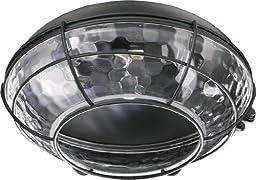 Quorum 1374-859, Medium Clear Hammered Glass Patio Light Kit, Matte Black