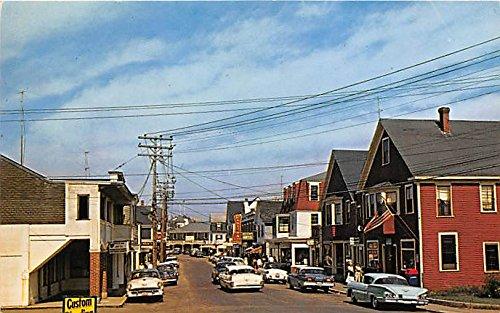 Shopping Area York Beach Maine Postcard (Shopping-maine)
