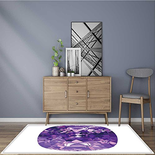 (Non-Slip Area Rug amethyst 109026947 No Chemical Odor 2' X 4')