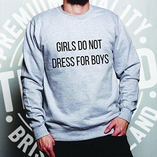 Not Dress for Sweatshirt Boys Do Girls Grey Slogan Feminist tqvCzw