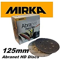 Mirka HD65002560 5-Inch 60 Grit HD Heavy Duty Mesh Abrasive Dust Free Sanding Discs, Box of 25 Discs by Mirka