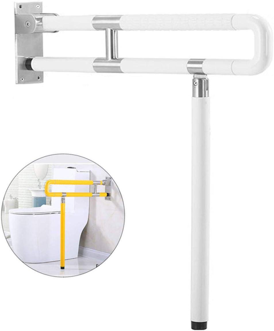 Barras minusvalidos agarraderas, Barra abatible inoxidable para baño adaptado a personas mayores,White,60cm