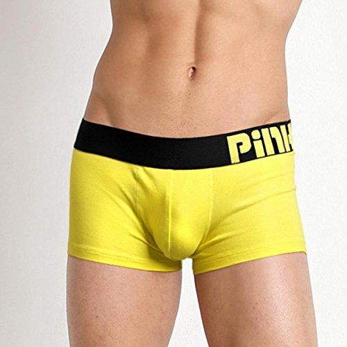 vêtements Briefs Sous Rose Jaune Sexy Shorts Slip Knickers Pantalon Hommes Boxer Tiaq Heros Respirant xfwRH0qHv