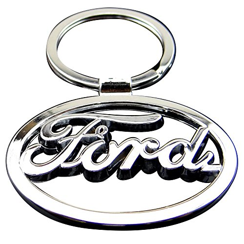 ESMPRO for Ford Mustang 3D Pony Horse Circle Metal Key Chain Car Logo Keychain Keyfob Keyring