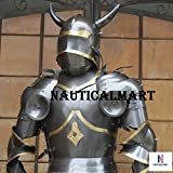 NauticalMart Medieval Wearable Knight Gothic Full Suit of Armor With horns 15'' Century Body Armour