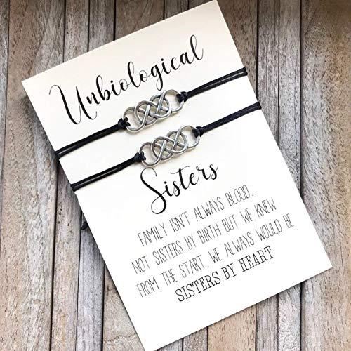 Unbiological sister bracelet, Soul sister bracelet, Big Little sorority, Best friend, Matching jewelry, Friendship bracelet, BFF gifts, Best Friend infinity bracelets