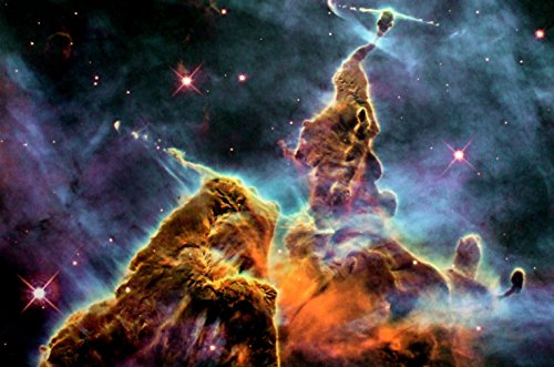 Black Light Reactive Mystic Mountain Carina Nebula Fine Art Print by New Horizon Aviation, LLC