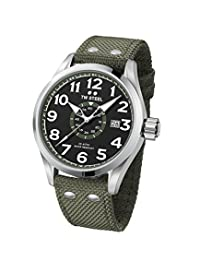 TW Steel Men's 'Volante' Quartz Stainless and Nylon Dress Watch, Color:Green (Model: VS21)
