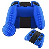 Cheap eXtremeRate Blue Soft Anti-slip Silicone Protective Cover with One Pair Thumbstick Caps for Nintendo Switch Controller Joy Con