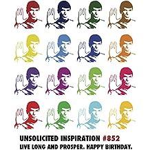 Quiplip UI846PCK Spock Birthday Card (6 Pack)