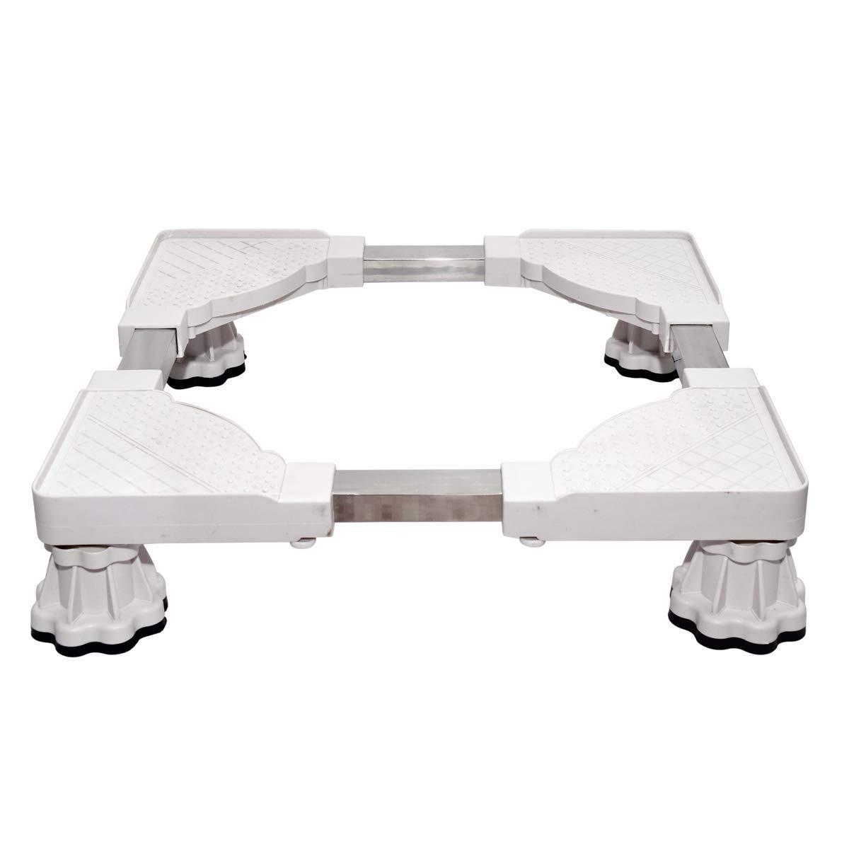 Inllex Adjustable Refrigerator Undercarriage Bracket Stand with Wheels