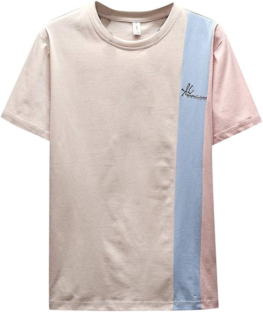 Camiseta de Manga Corta para Hombre, diseño Coreano, Talla M ~ 4XL Beige Beige XXL: Amazon.es: Ropa y accesorios