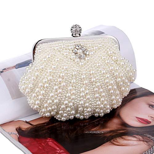 Mallty white Paquet Perles Creamy Creamy De Dîner color white Coquille 77UrS0x