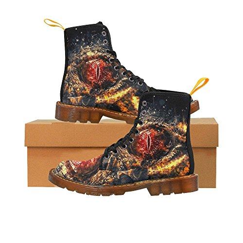 Zapatos D-story Zombie Eye Lace Up Martin Botas Para Mujer