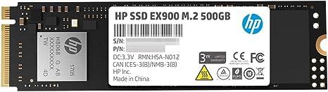 Amazon.com: HP EX900 M.2 500GB PCIe 3.0 X4 Nvme 3D TLC NAND ...
