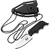 SOG Small Fixed Blade Knives – Instinct Mini 1.9 Inch Full Tang Belt Knife and Boot Knife...