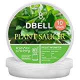 DBELL Clear Plant Saucers 10 Pack of 8 Inch