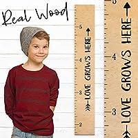Growth Chart Art | Love Grows Here Wooden Height Chart | Tribal Wood Growth Chart for Babies, Kids, Boys & Girls
