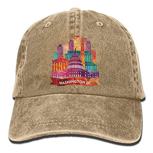 Hat Washington DC Denim Skull Cap Cowboy Cowgirl Sport Hats for Men Women