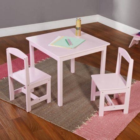 Hayden Kids 3 Piece Table and Chair Set (Multiple Colors) -  Table dimensions: 23.6