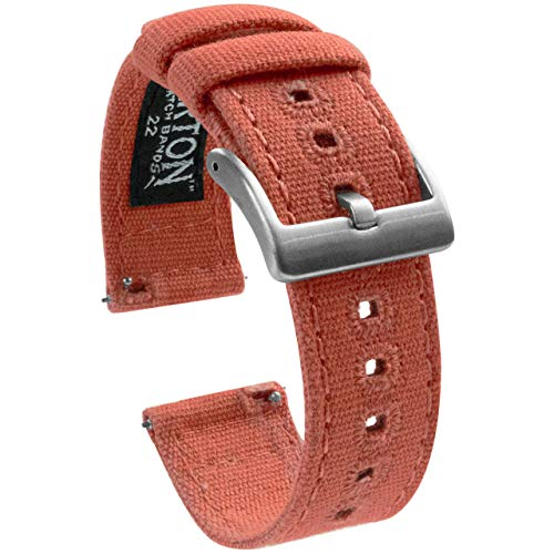 20mm Autumn - Barton Canvas Quick Release Watch Band Straps - Choose Color & Width - 18mm, 19mm, 20mm, 21mm, 22mm, or 23mm