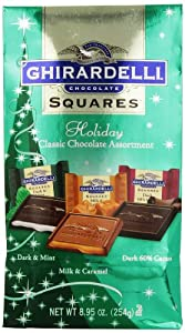 Ghirardelli Chocolate Squares, Premium Holiday Chocolate Assortment, 8.95-Ounce Bags (Pack of 4)