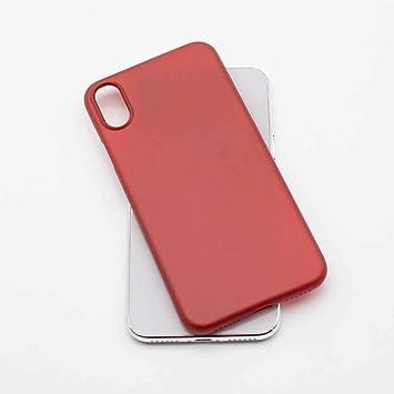 TDL Coque iPhone X Ultra Fine (0,35mm) légère Slim Minimaliste Design avec Protection Anti-Rayure - pour Apple iPhone X (Red)