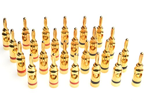 WGGE WG-3334 24k Gold Plated Banana Plugs or Connectors  )