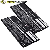 2x Exell Li-Polymer 3.7V 6400mAh Battery Fits HUAWEI MediaPad 10 Link S10-201W S10-201WA Tablets, Replaces HUAWEI HB3X1 Batteries