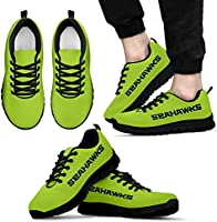 Seattle Seahawks Themed Casual Athletic Running Shoe Mens Womens Sizes 12th Man Football Apparel and Gifts for Men and Women