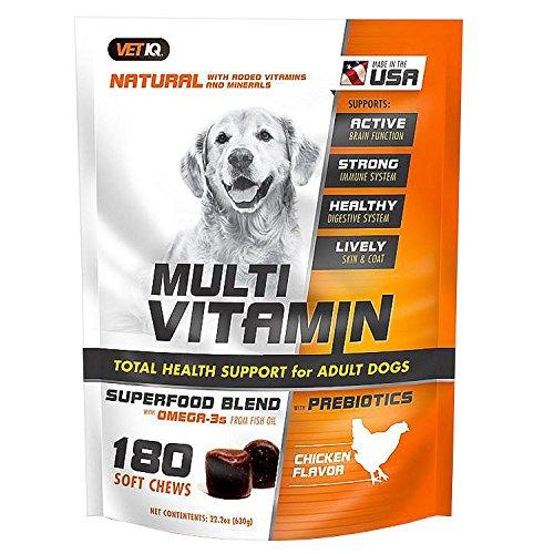 VetIQ Natural Multivitamin Soft Chews for Dogs, Chicken Flavor (180 ()