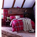 Catherine Lansfield Kelso King Duvet Set - Red by Catherine Lansfield