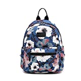 Canvas Teen Girls Backpack Cute Mini School Bag Floral Rucksack Floral Deal (Small Image)
