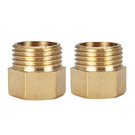 HONGLU Brass Hose Fitting Union Barbed Fitting for Water Fuel Air 1//4 Inch ID 2 Packs