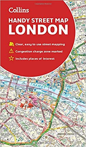 London And Surrounding Areas Map.Collins London Handy Street Map Collins Maps 9780008320584 Books