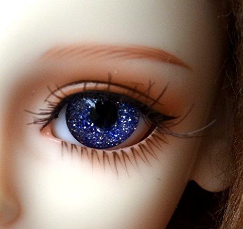 1 Pair Handmade Acrylic Flash Blue Half Ball Eyes for BJD Dollfie SD Doll