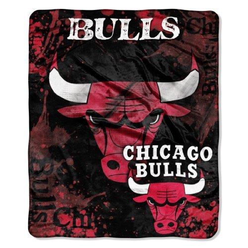 CHICAGO BULLS NBA ROYAL PLUSH RASCHEL BLANKET (DROP DOWN SERIES) (50X60) by Northwest