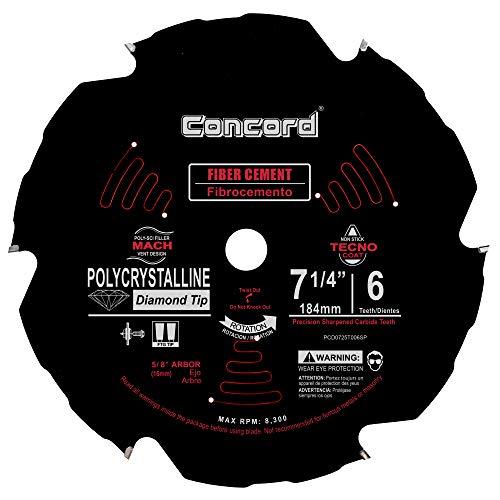 Amazon.com: Concord Cuchillas PCD de fibra de cemento hoja ...