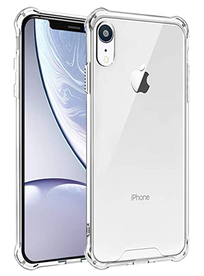 big sale eb78c e6915 iPhone XR Case,iPhone XR Case Clear,iPhone XR Slim Case,SunRemex Crytal  Clear Hard Back and Clear Soft Reinforced Corners Shockproof TPU Rubber  Bumper ...