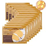 Collagen Eye Mask,50 x Pair Crystal Moisture Gel Patch Pad, Anti Wrinkle, Remove Bags, Dark Circles, Whitening,Regeneration Of Skin (Gold)