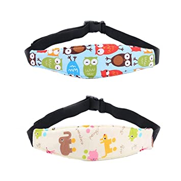 7ee0d1d6b19 Amazon.com  Aochol 2 Pack Toddler Baby Car Seat Sleeping Head Support Band
